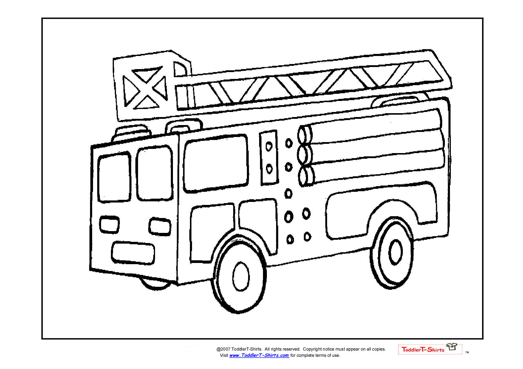 free coloring pages fire engines - photo#8